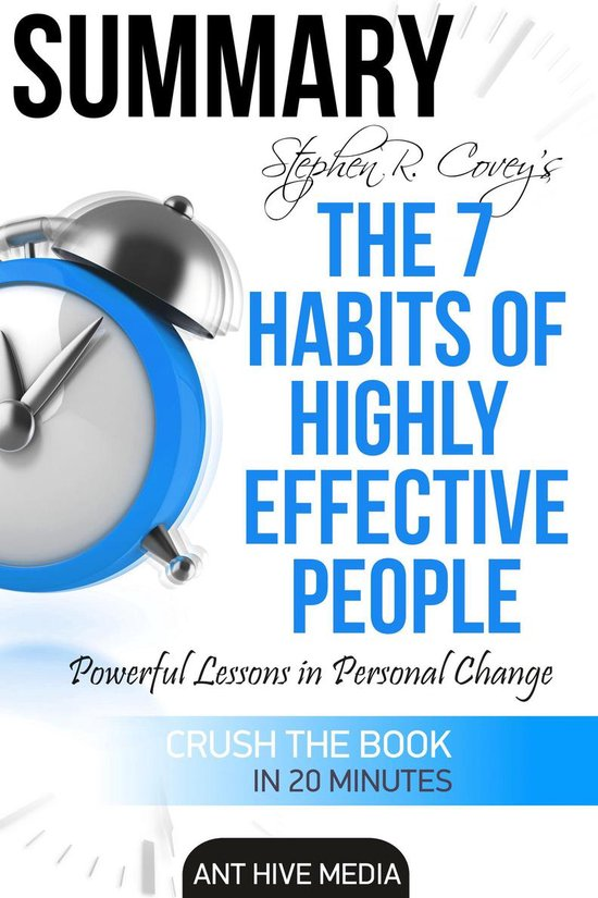 Afbeelding van Steven R. Coveys The 7 Habits of Highly Effective People: Powerful Lessons in Personal Change | Summary