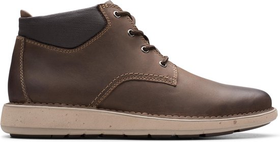 Clarks Un Larvik Top Heren Veterboot - Brown Leather - Maat 46