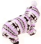 Designer wintertrui - Kerst trui - Honden trui - Warme wintertrui voor honden - Rendier design - L - Roze