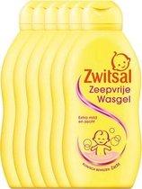 Zwitsal Zeepvrije Wasgel - 6 x 200  ml - Voordeelverpakking