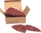 VONROC Schuurpapier set – 100x150MM – 50 stuks – Voor schuurmachines – voorstuk draaibaar
