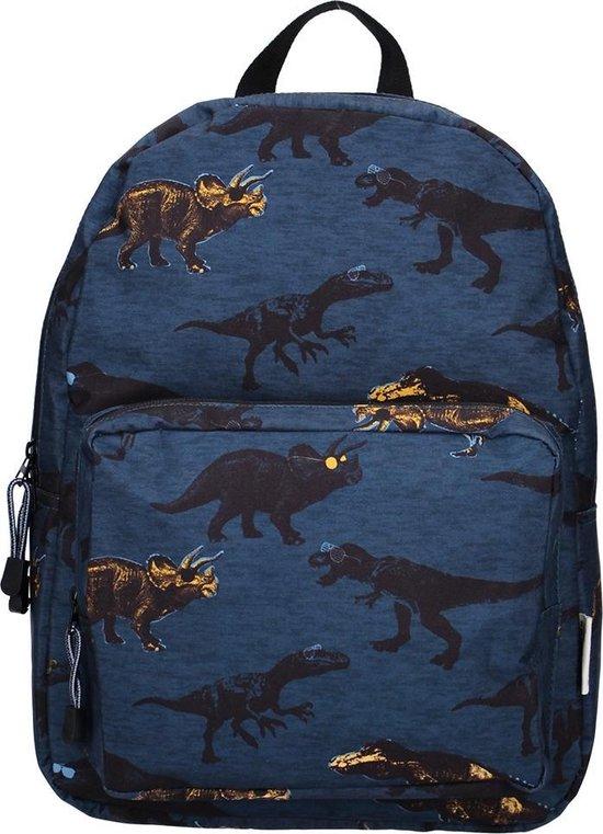 Skooter Funky Zoo rugzak dinosaurus blauw L