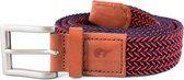 Slopes&Town braided Belt Robbie Rode Elastische Gevlochten Riem
