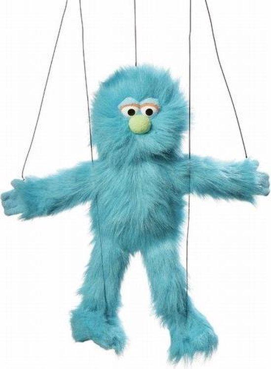 Handpop Monster Blauw marionet Sillypuppets