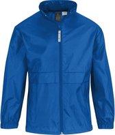 Regenkleding voor jongens/meisjes kobaltblauw - Sirocco windjas/regenjas voor kinderen 3-4 jaar (98/104) kobalt