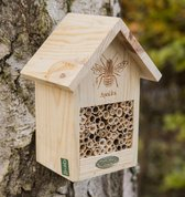 Bijenhotel naturel met brandmerk - set van 3 stuks