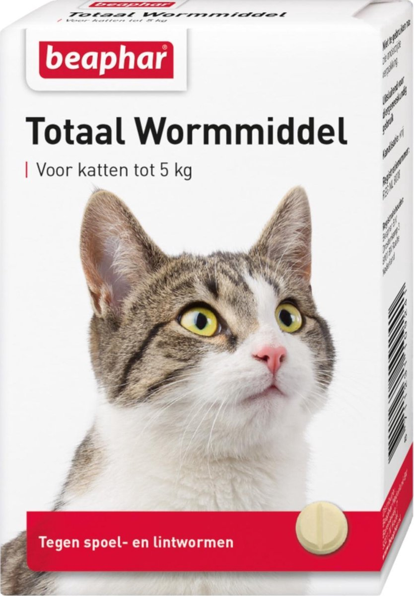 Beaphar Totaal Wormmiddel - Kat - 10 tabletten