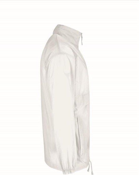 Windjas/regenjas Voor Heren Wit Maat L