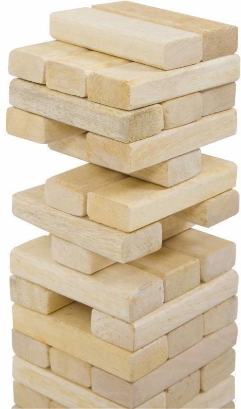 Thumbnail van een extra afbeelding van het spel Stapeltoren spel, ECO Indiaas  hout, in stevige tas  Top Kwaliteit