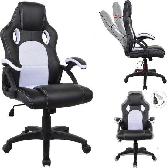 Bureaustoel Wit Design.Bureaustoel Racing Game Stijl Premium Design Wouter Wit Bol Com