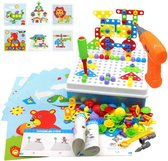 3D Puzzel met 237 Bouwstenen - Mozaik Educatief Speelgoed met Boormachine - Pedagogisch Speelgoed Cadeauset voor Kinderen