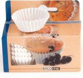 Papieren cupcake vormpjes - bakvormpjes - muffin vormpjes - cake vormpjes – 100 stuks - wit - 2WINS