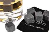 Whiskey Stones - Whisky Stenen - IJsblokken Van Natuursteen - 9 Stuks - Cadeau Tip Man/ Vriend - Vaderdag Cadeau + GRATIS Geschenk Zakje - [Wiskeystenen - Wiskeystones]