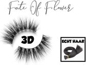 1 paar -  Fate of Flower 3D Wimpers 100% Echt Haar - Zwart