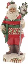 Jim Shore: Wonderland in de Wildernis (Bosrijke kerstman met stafscène) Beelden & Figuren