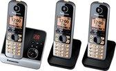 Panasonic KX-TG6723 GB - Trio DECT telefoon - Antwoordapparaat - Zwart