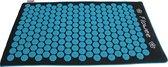 Flowee Spijkermat – Duurzaam ECO Model – Zwart/Blauw (75cm x 45cm) – Vulling van Kokosvezels - Acupressuur mat