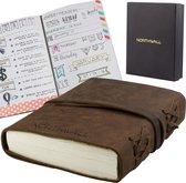 Northwall Leather bullet journal - 100% Buffel Leer - 240 Dotted Pagina's (120 vellen)- Vintage Lederen Notitieboek - Prachtig Schetsboek in Cadeau Verpakking