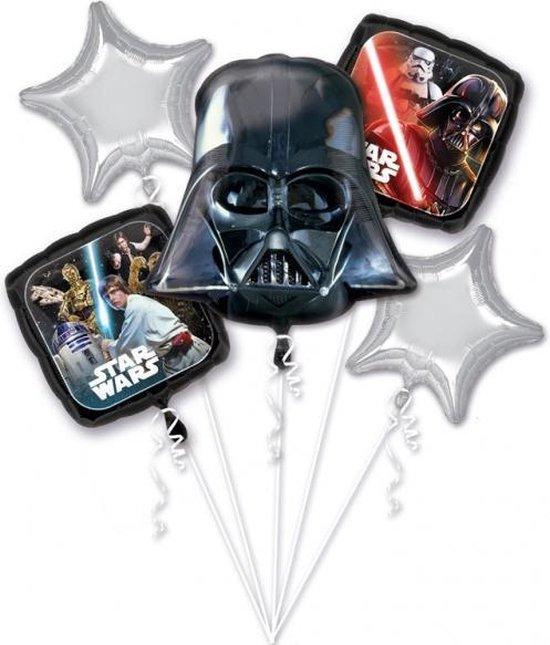 5 aluminium Star Wars™ ballonnen - Feestdecoratievoorwerp