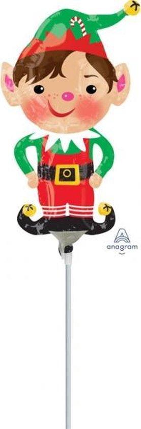 Mini Shape Jolly Christmas Elf Foil Balloon A30 air filled