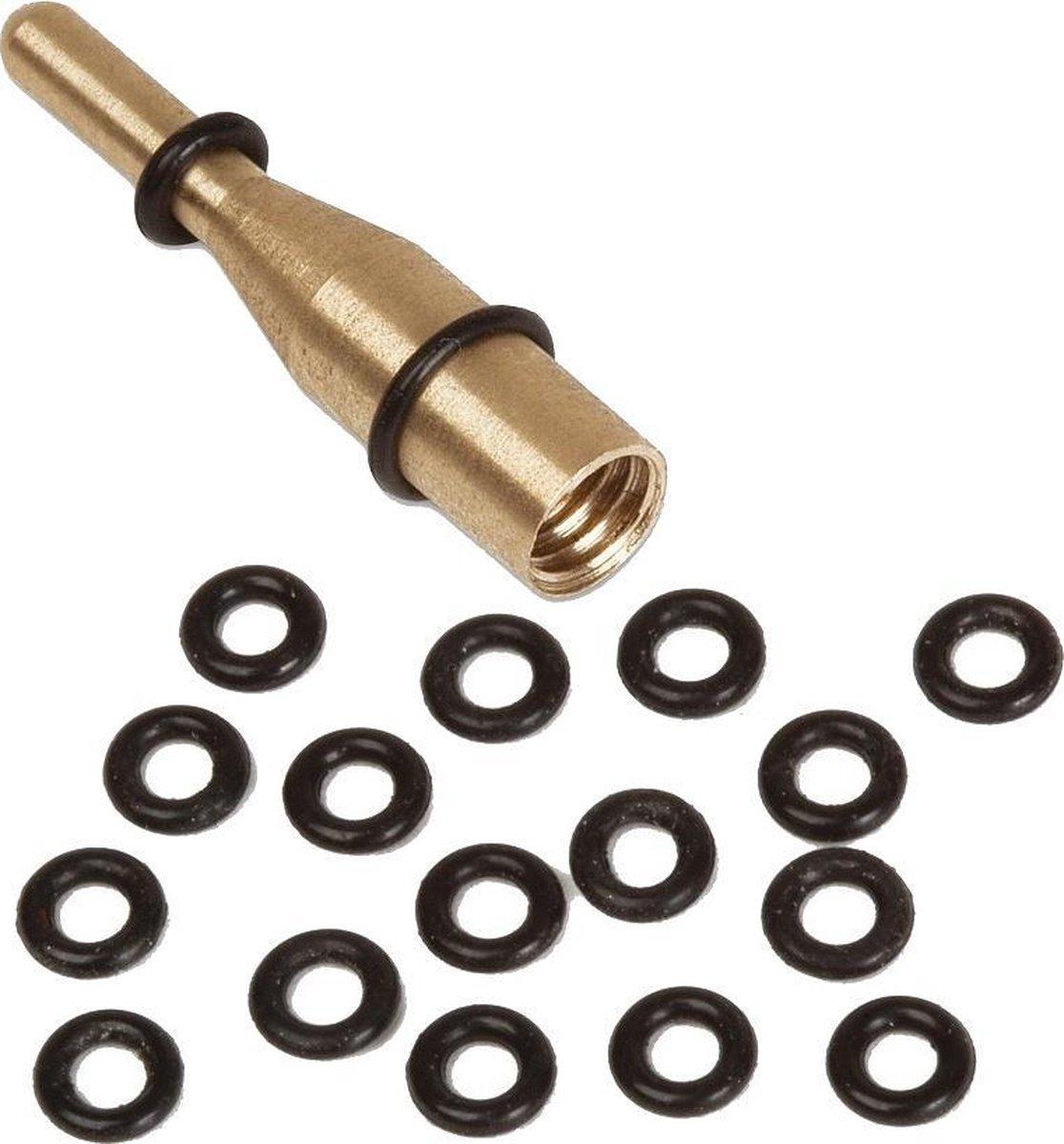 Bull's O-rings Met Aanbrengschroef Goud 25 Stuk