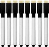 8 stuks magnetische whitebord stiften zwart