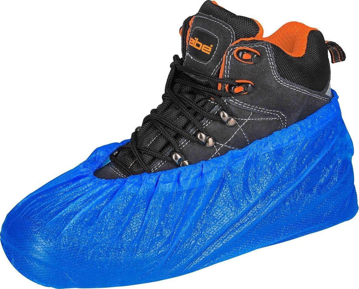 """Schoenovertrek, schoenhoesje, CPE - kleur blauw -   large 16"""" (41 cm) - 40 mu dik - 100 stuks"""