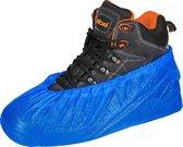 "Schoenovertrek, schoenhoesje, CPE - kleur blauw -   large 16"" (41 cm) - 40 mu dik - 100 stuks"