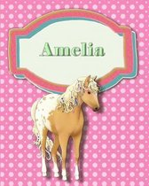 Handwriting and Illustration Story Paper 120 Pages Amelia
