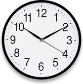 JAP Wandklok met stil uurwerk Ø30cm - Tijdloos Modern - Klok met Glazen plaat - Muurklok Glas - Zwart