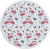 Roundie Strandlaken Flamingo Dikke badstof Heerlijk zacht