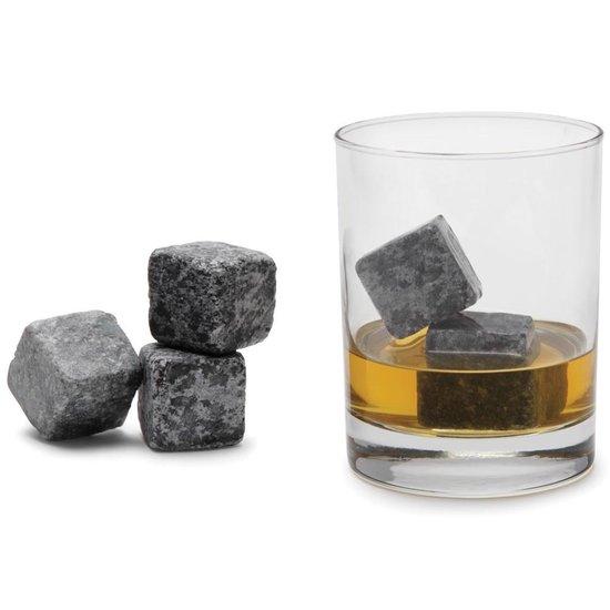 Whiskey stones - IJsblokken van natuursteen - 9 stuks