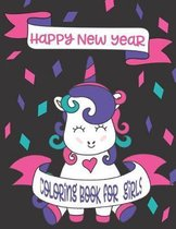 Happy New Year Coloring Book for Girls