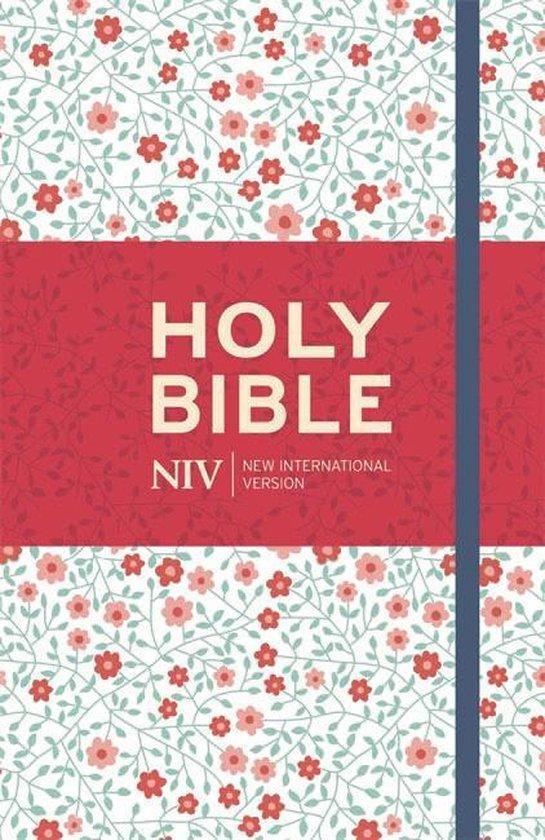 NIV Thinline Floral Cloth Bible - New International Version |