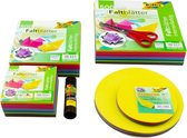 Folia Vouwblaadjes Vierkant en Rond Mega Knutsel Papierpakket A040032 - 1700 blad