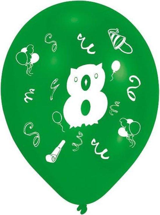 Amscan Ballonnen 8 Jaar 8 Stuks 25 Cm