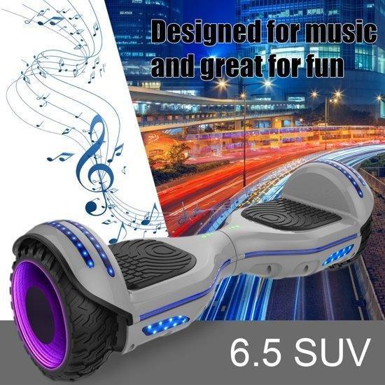 Evercross Hoverboard SUV 6.5 inch met Flits Wielen, Gyropode Off-Road met TAOTAO moederbord, Bluetooth Speaker, LED-lamp - Camouflage