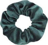 Velvet scrunchie dark green