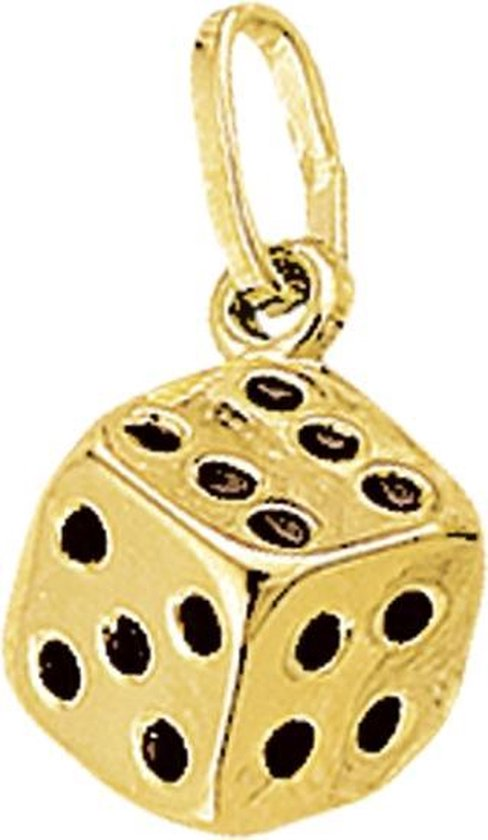 The Jewelry Collection Bedel Dobbelsteen - Goud