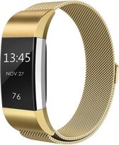 YONO Milanees bandje - Fitbit Charge 2 - Goud - Small