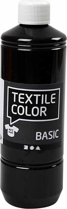 Afbeelding van Creotime Textile Color Zwart textielverf - 500ml speelgoed