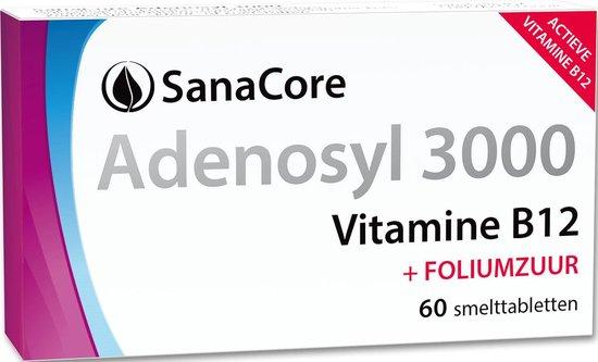 SanaCore Adenosyl 3000 - Actieve Vitamine B12 - 60 zuigtabletten - Adenosylcobalamine