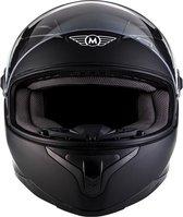 MOTO • MATT BLACK • L • Helm - Motorhelm - Integraalhelm - Scooterhelm - Motor - Scooter - Brommer
