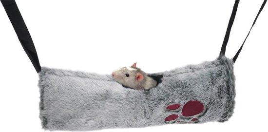 Snuggles 2 In 1 Hangmat/Tunnel - Knaagdierspeelgoed - 38 x 36 cm - Rosewood