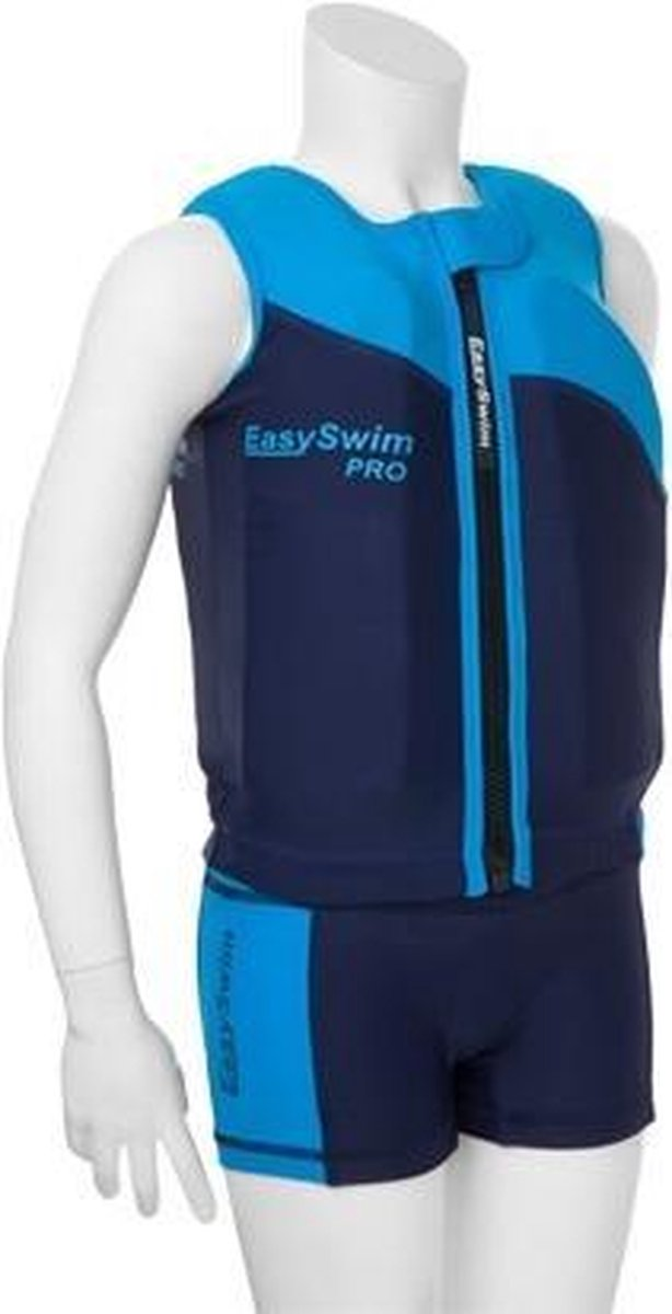 EasySwim Pro - Drijfpakje - Zwemvest & Zwembroek - Blauw - L : 24-28 kg
