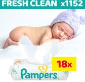 Pampers Fresh Clean billendoekjes - 1152 Stuks (18x64) - Babydoekjes | Voordeelverpakking