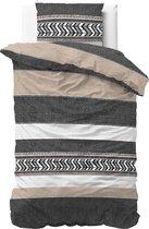Dreamhouse Bedding Northern Stripe - Dekbedovertrek - Eenpersoons - 140x200/220 + 1 kussensloop 60x70 - Grijs