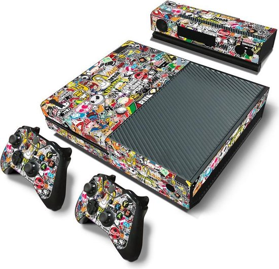 Xbox One Sticker | Xbox One Console Skin | Cartoon | Xbox One Cartoon Skin Sticker | Console Skin + 2 Controller Skins - Merkloos