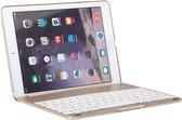 Shop4 - iPad Air 2 Toetsenbord Hoes - Bluetooth Keyboard Cover Shell Aluminium Goud
