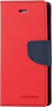 Let op type!! MERCURY GOOSPERY FANCY DIARY for iPhone 6 & 6s Cross Texture Horizontal Flip Leather Case with Card Slots & Wallet & Holder(Red)